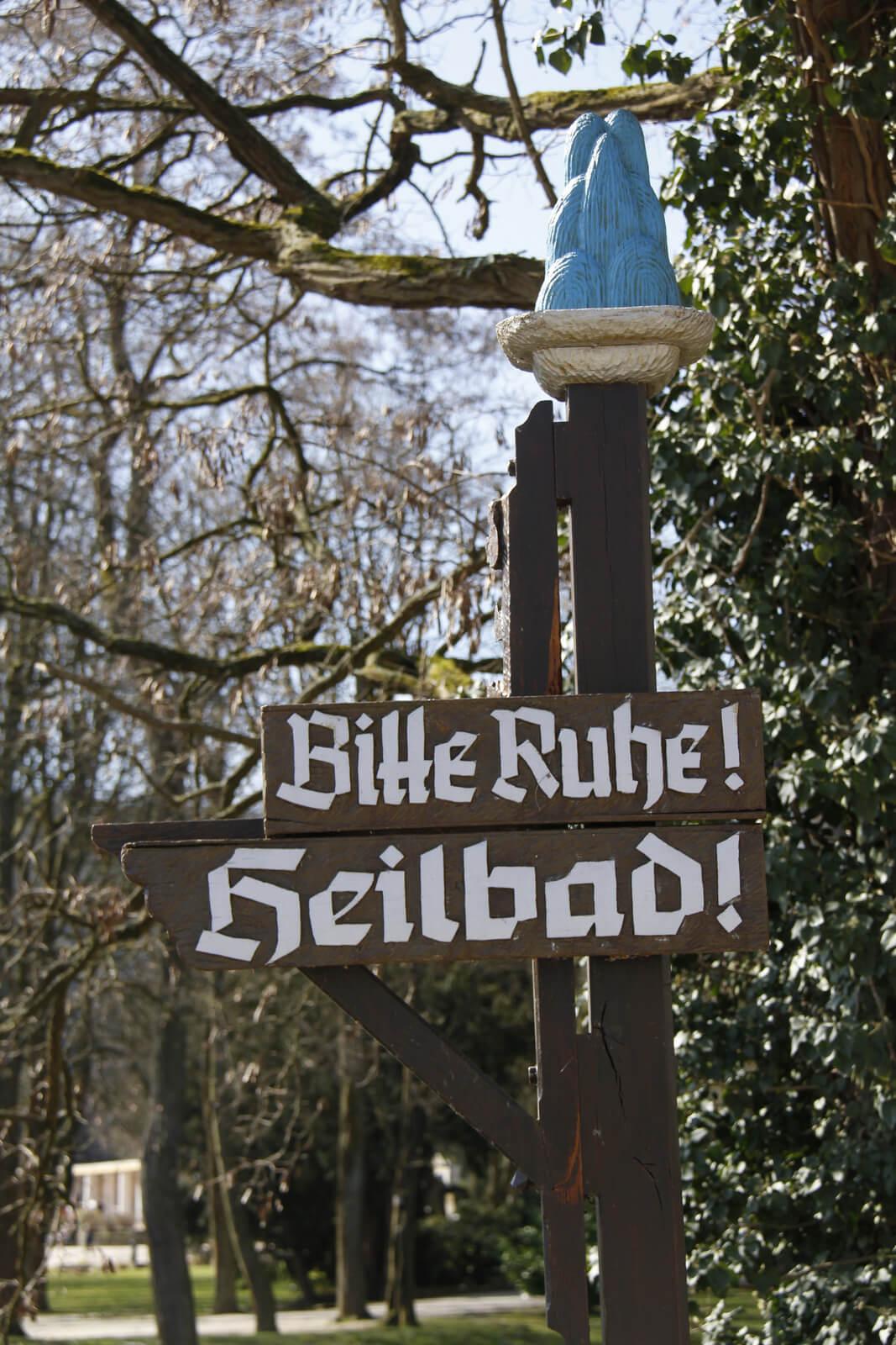 Bitte Ruhe im Heilbad / Kurviertel Bad Neuenahr