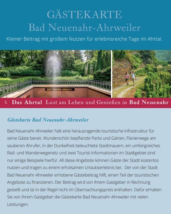 Gästekarte Bad Neuenahr-Ahrweiler